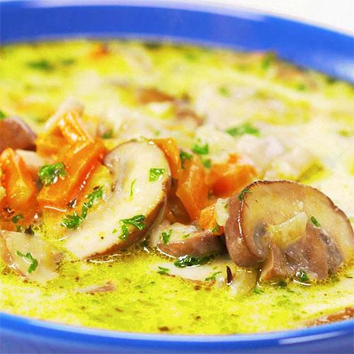 Гороховый суп с курицей и грибами | Кулинарные рецепты / Very-stylish