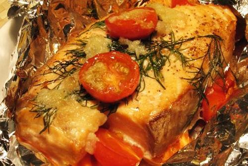 Лосось, запеченный в фольге с овощами   Кулинарные рецепты / Very-stylish