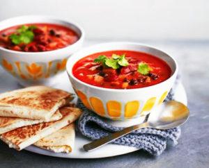 Мексиканский суп из фасоли с хрустящими лепешками   Кулинарные рецепты / Very-stylish