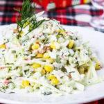Салат из пекинской капусты с крабовыми палочками | Кулинарные рецепты / Very-stylish