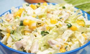Салат из пекинской капусты с курицей