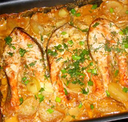 Форель с картофелем, запеченная в духовке | Кулинарные рецепты / Very-stylish