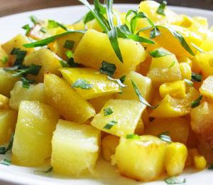 Картофель с кукурузой и эстрагоном | Кулинарные рецепты / Very-stylish