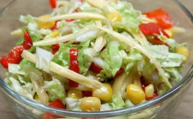 Салат из Пекинской капусты «Калейдоскоп»