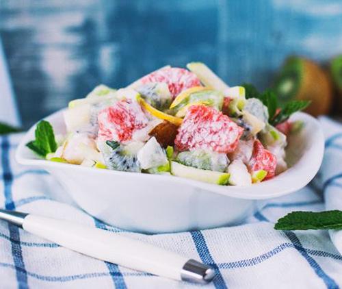 Зимний фруктовый салат с йогуртом | Кулинарные рецепты / Very-stylish