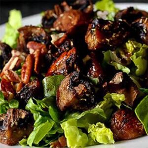 Салат с жареными шампиньонами | Кулинарные рецепты / Very-stylish