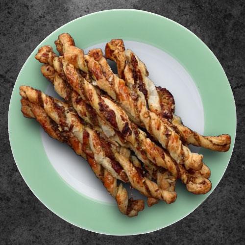 Закуска «Твисты» (хлебные палочки) с песто
