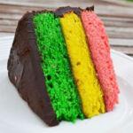 Итальянский радужный миндальный торт
