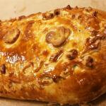 Вегетарианская кулебяка с козьим сыром