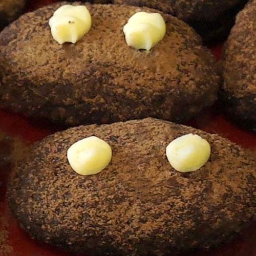 Пирожное картошка из бисквита