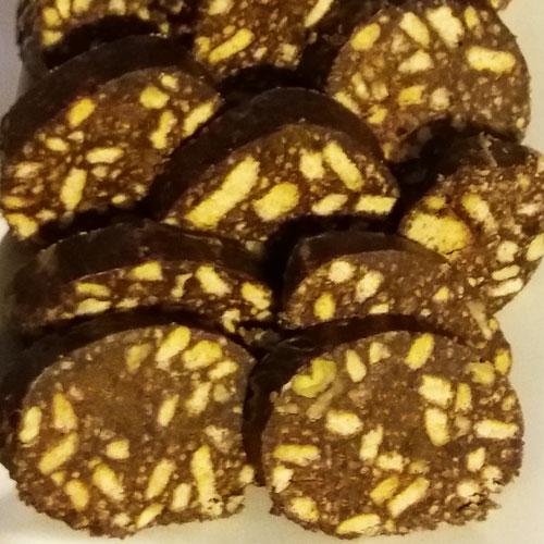 Шоколадные колбаски