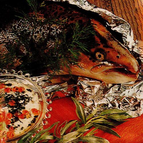 Красная рыба, запечённая в фольге